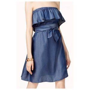 Michael Kors Denim Strapless Dress